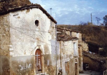 La vecchia facciata della chiesa
