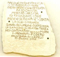 Dedica Padre Gabriele