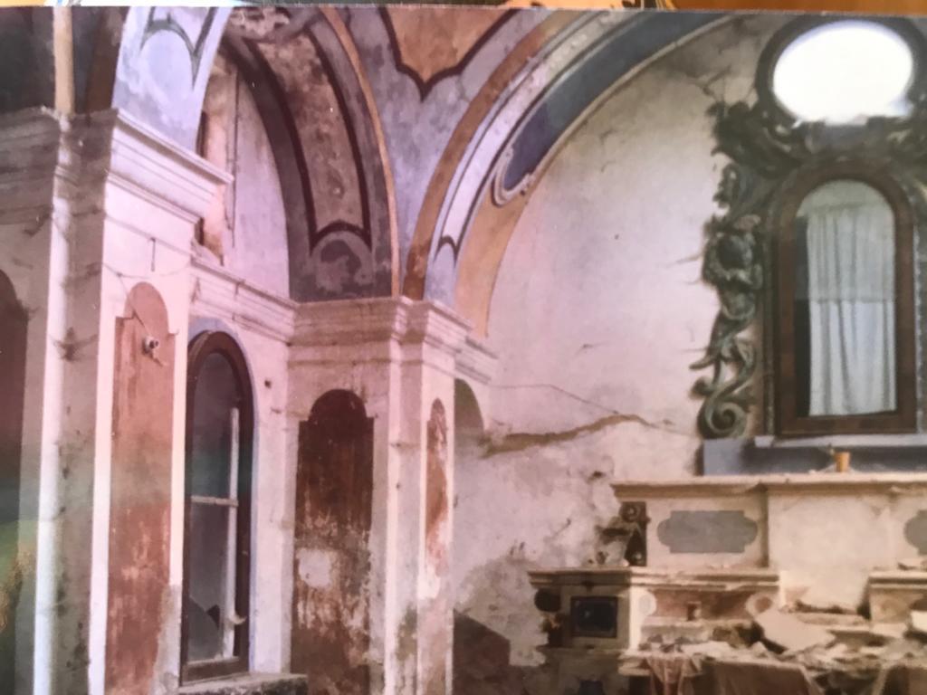 La chiesa dopo il terremoto